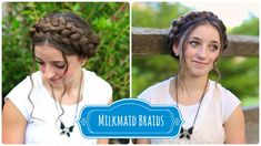 Milkmaid Braids | Summer Hairstyles and more Hairstyles from CuteGirlsHairstyles.com