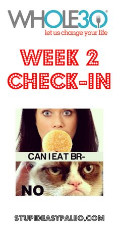 Whole30 Week 2 Check-In | stupideasypaleo.com. Click here to check in for the week...how's it going? >> http://stupideasypaleo.com/2014/01/07/whole30-week-2-check-in/ #whole30