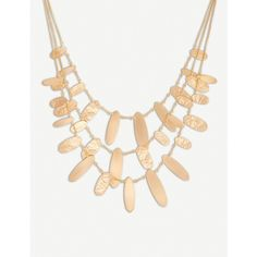 KENDRA SCOTT Nettie hammered tab 14ct rose gold-plated necklace (2,830 MXN) ❤ liked on Polyvore featuring jewelry, necklaces, rose gold plated jewelry, multi layer necklace, hammered necklace, rose gold plated necklace and layered necklaces