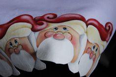 Pintura em tecido Eliane Nascimento: Barradinho de Papai Noel