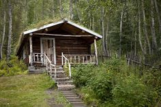 Spruce log and sod roof cabin of author Robert Service in Dawson City, Yukon. Built in 1897. Submitted by Tom Fowlks
