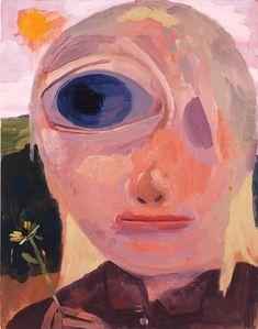Dana Schutz<br /> <i>Myopic</i>, /> oil on canvas<br /> 23 x 19 inches<br /> x cm Painting Inspiration, Art Inspo, Dana Schutz, Modern Art, Contemporary Art, Expressive Art, Arte Horror, Collage, Portrait Art