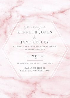 Pink Marble Invitation Personalized and Printable Modern