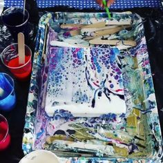 (notitle) Do it yourself Bilder Acrylic Pouring Techniques, Acrylic Pouring Art, Acrylic Art, Acrylic Paintings, Pour Painting, Painting Videos, Diy Painting, Do It Yourself Bilder, Art Techniques