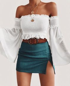 Summer Outfits Women Summer Outfits For Teen Girls Casual Summer # sommer outfits frauen sommer outfits für teen girls casual summer Summer Outfits Women Summer Outfits For Teen Girls Cas Mode Outfits, Skirt Outfits, Fashion Outfits, Fashion Trends, Fashion Women, Style Fashion, Fashion Belts, Club Fashion, Basic Outfits