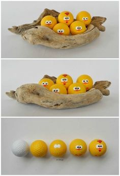 Cute Little Chicks from Upcycled Golf Balls