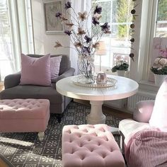 Sara on Instagram: Pink/Grey decor via @alkstyling  #decor #homerenovation #homestyle