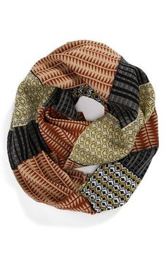 Echo 'Pattern Blocking' Infinity Scarf available at #Nordstrom