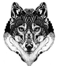 Idée pour un tatouage loup: magnifique croquis