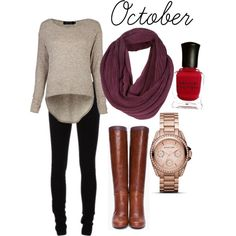 """""""October Outfit"""" by eryngoes on Polyvore"""