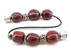 Natural Red Agate Meander Bead Hand Knitting Bracelet For Healing