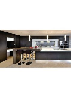 Marvelous Like the colour scheme dark brown and light benchtop Breakfast bar that is higher