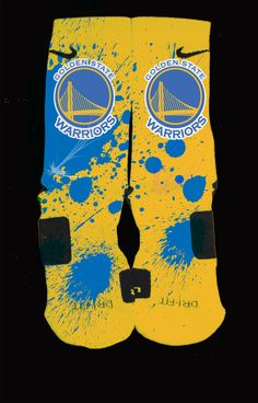 e25762fe6077 Golden+State+Warriors+Inspired+Custom+Nike+Elite+Socks  Each+pair+is+custom+created+when+you+order.