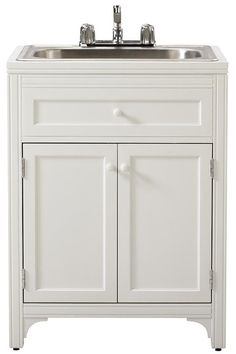 Utility Sink - Sink and cabinet from IKEA | My House | Pinterest ...