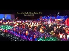 davie fl 2012 hammel family christmas light holiday display in davie florida