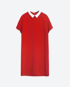 @zaraofficial Poplin Collar Dress