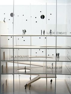 aphasia: Jaraíz. Garcia Theater Architecture, Museum Architecture, Architecture Drawings, Concept Architecture, Interior Architecture, Layered Architecture, Structural Model, Arch Model, Library Design