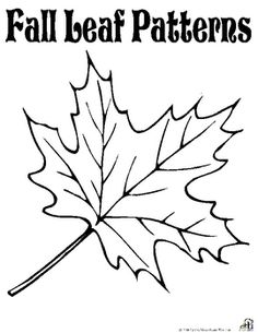 Free Fall Leaf PatternsCheck out our other great fall products!...