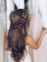 Wedding Hairstyles For Long Hair Special compilation of Christmas hairstyles for long hair. - We gathered up a special compilation of Christmas hairstyles for long hair, which look cute and are simple to master. They will take less than 10 minutes. Flower Girl Hairstyles, Wedding Hairstyles For Long Hair, Little Girl Hairstyles, Wedding Hair And Makeup, Pretty Hairstyles, Hair Makeup, Wedding Updo, Hairstyle Ideas, Unique Hairstyles