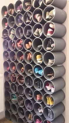 Best shoe rack made from water pipes