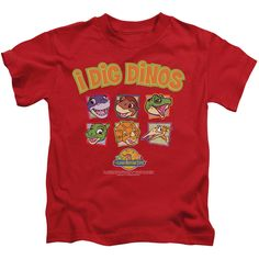 Submerge yourself in the world of Land Before Time with this I Dig Dinos Juvy T-Shirt. Now your little one can live out their fantasy and wear this officially licensed, red juvy t-shirt made of 100% p