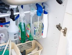 Great way to stay organized, even under your kitchen sink!