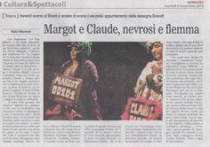 """Articolo di Italo Interesse, foto di Domenico Carbonara sul Quotidiano di Bari di martedì 04/11/2014 su """"Le Fuggitive"""""""