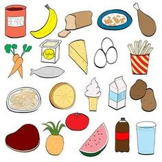 Most popular teaching resources: classroom chit chat healthy eating for kids, healthy food choices Healthy Filling Snacks, Healthy Eating For Kids, Healthy Food Choices, Healthy Meals For Kids, Healthy Recipes, Food Clipart, Food Pyramid, Food To Go, Health Lessons