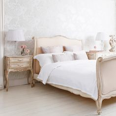 Delphine French Upholstered Bed  |  French Beds  |  Beds & Mattresses  |  French Bedroom Company