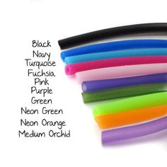 PVC Tubing 3 Mtr length hollow rubber cord for jewellery Pvc Tube, Jewelry Making Kits, Neoprene Rubber, Head Pins, Black And Navy, Neon Green, Pink Purple, Cord, Jewellery
