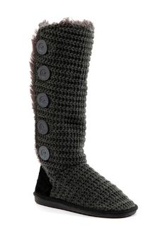 Malena Knit Knee-High Boot by MUK LUKS on @HauteLook