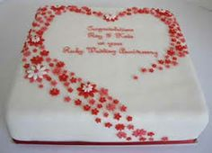Th wedding anniversary cakes google search th anniversary