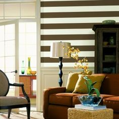 More fun stripes on the wall.