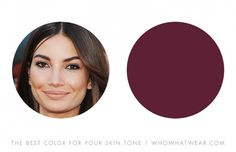 """""""This is another shade of olive-tone skin tone that looks dynamic in berry and wine tones—again it reflect a glow against a yellow-base skin."""" — Leatrice Eiseman"""