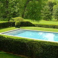 A comfortable pool is quite nice for those who love to swim. Swimming in clear water is good for mind and body fatigue. Swimming pool models are const. Outdoor Pool, Outdoor Gardens, Front Gardens, Ideas De Piscina, Piscina Rectangular, Modern Pools, Beautiful Pools, Beautiful Images, Simply Beautiful