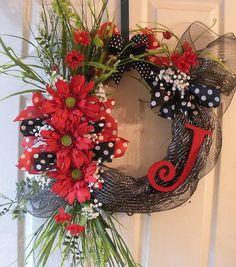Initial grapevine wreath
