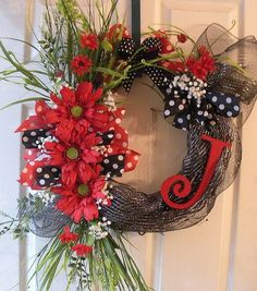 Initial grapevine wreath