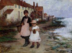 """Anna Nordgren, """"Deux fillettes au bord de l'eau"""" (""""Two Girls at the Edge of the Water"""")"""
