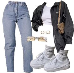Cute Swag Outfits, Cute Comfy Outfits, Edgy Outfits, Mode Outfits, Retro Outfits, Polyvore Outfits Casual, Tomboy Fashion, Teen Fashion Outfits, Look Fashion