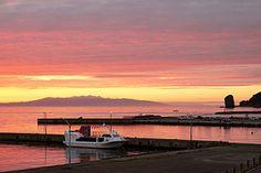 Aomori Bay in Japan Aomori, Around The Worlds, Japan, Celestial, Sunset, Outdoor, Inspiration, Outdoors, Biblical Inspiration