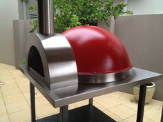 Woodfired Pizza Ovens Z1100 with Red Dome