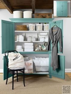 17. Free #Standing - 38 Ideas for #Linen Closet Organization That Are Easy and #Totally Doable ... → DIY #Organization
