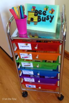 Frog Spot: Bee Busy - A system for your Fast Finishers! What a fun and easy to set up system, I love this idea! First Grade Classroom, Classroom Setting, Kindergarten Classroom, Future Classroom, School Classroom, Classroom Activities, Classroom Design, Classroom Ideas, Primary Classroom Displays
