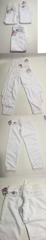 Baseball Pants 181349: Lot Of 3 Easton Girls Fastpitch Softball Pants White Youth Small Scotchgard 3M -> BUY IT NOW ONLY: $30 on eBay!