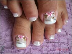 Love Nails, Pretty Nails, My Nails, Pedicure Designs, Toe Nail Designs, Cute Pedicures, Manicure And Pedicure, Painted Toes, Feet Nails