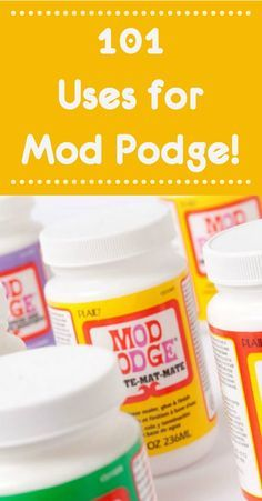 101 Unique & Amazing Mod Podge Uses! - Mod Podge Rocks - What can Mod Podge do? Get 101 Mod Podge uses here! You& be surprised at all of the things - Diy Mod Podge, Mod Podge Uses, Mod Podge Crafts, Fun Crafts, Preschool Crafts, Mod Podge Glitter, Diy Arts And Crafts, Hobbies And Crafts, Arts And Crafts For Adults