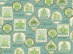 Old Country Store Fabrics - Quilting Treasures - Herb Garden - 23425-Q