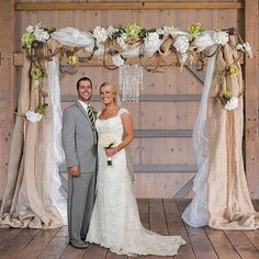 Making a fantastic alter for your wedding can be simple when you create our Rustic Romance DIY Archway.