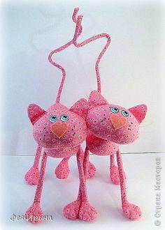 Игрушка Куклы Шитьё Девчушки и котишки  Кружево Проволока Ткань Шерсть фото 13