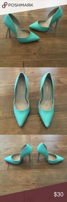 *Bundle Trade* Heels Bundle trade with two pairs of heels. Liliana mint colored heels and black & gold ankle strap heels. Liliana Shoes Heels
